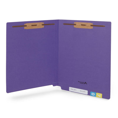 End Tab Fastener File Folders, Letter Size, Purple, 50 Pack Folders Blue Summit Supplies
