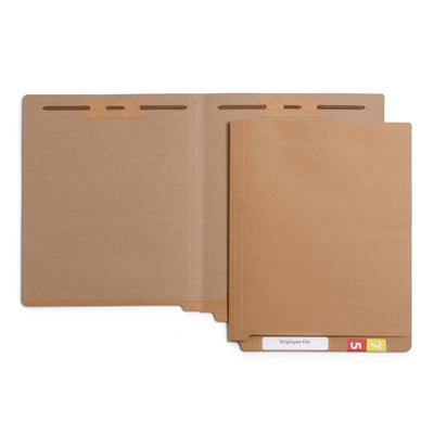 End Tab Fastener File Folders, Letter Size, Kraft, 50 Pack
