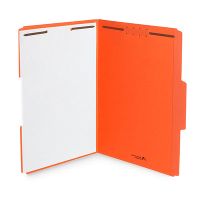 Fastener File Folders, Legal Size, Orange, 50 Pack Folders Blue Summit Supplies