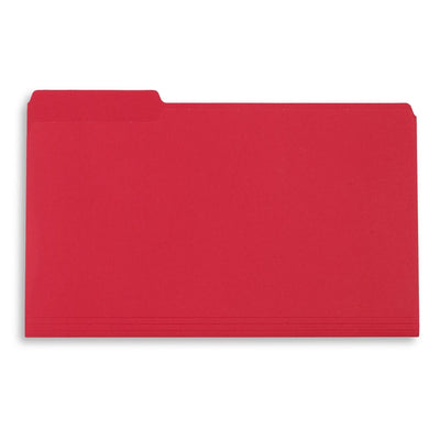 File Folders, Legal Size, Red, 100 Pack Folders Blue Summit Supplies