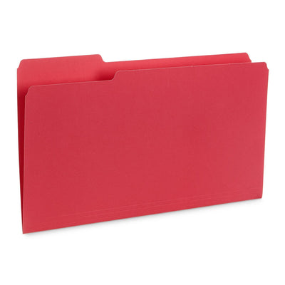File Folders, Legal Size, Red, 100 Pack