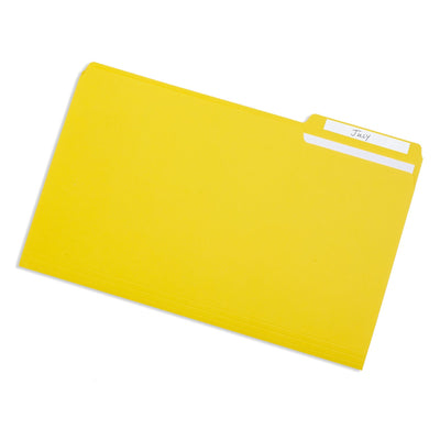 File Folders, Legal Size, Yellow, 100 Pack Folders Blue Summit Supplies