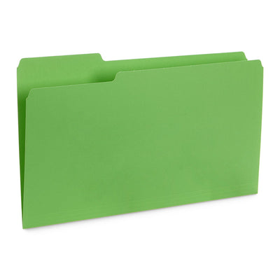 File Folders, Legal Size, Green, 100 Pack Folders Blue Summit Supplies