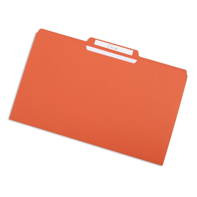 File Folders, Legal Size, Orange, 100 Pack Folders Blue Summit Supplies