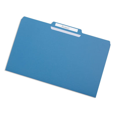File Folders, Legal Size, Blue, 100 Pack