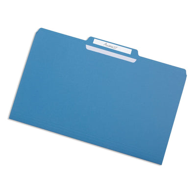 File Folders, Legal Size, Assorted Color, 100 Pack Folders Blue Summit Supplies