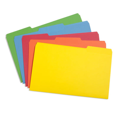 File Folders, Legal Size, Assorted Color, 100 Pack