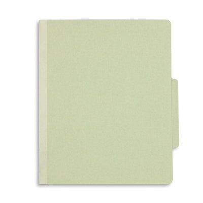 Classification Folders with 3 Dividers, Letter Size, Grey/Green, 10 Count