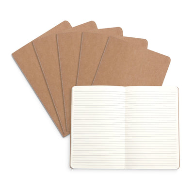 Travel Journals, Lined Pages, 6 Pack Notebooks Blue Summit Supplies