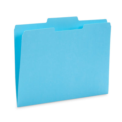 File Folders, Letter Size, Assorted Ocean Tone Colors, 100 Pack Folders Blue Summit Supplies
