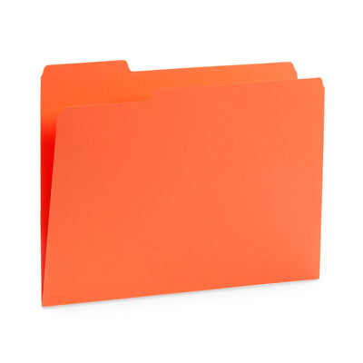 Warm Tones File Folders with 1/3 Cut Tab, Letter Size, Assorted Colors, 100 Count Folders Blue Summit Supplies
