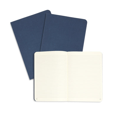 Linen Executive Journals, Lined Paper, 3 Pack Notebooks Blue Summit Supplies