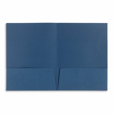 Tax Return Folders, Two Pocket, Dark Blue, 25 Pack Folders Blue Summit Supplies