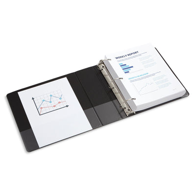 3'' 3-Ring Binders, Black, 4 Pack binders Blue Summit Supplies