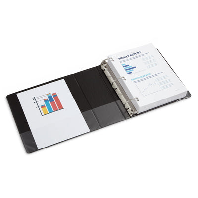 "4"" 3-Ring Binders, Black, 2 Pack binders Blue Summit Supplies"