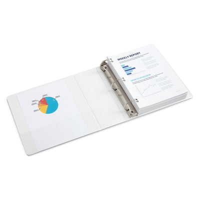 "4"" 3-Ring Binders, White, 2 Pack"