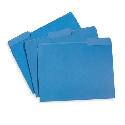 File Folders, Letter Size, Blue, 100 Pack