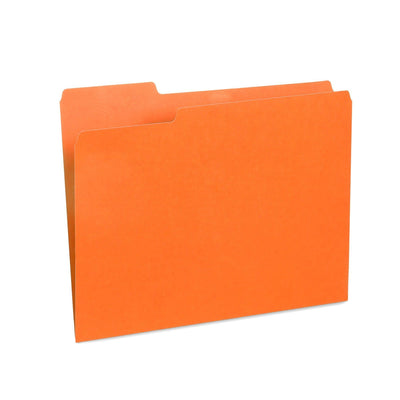 File Folders, Letter Size, Orange, 100 Pack Folders Blue Summit Supplies