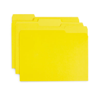 File Folders, Letter Size, Yellow, 100 Pack Folders Blue Summit Supplies