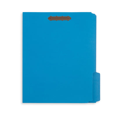 Fastener File Folders, Light Blue, 50 Pack Folders Blue Summit Supplies