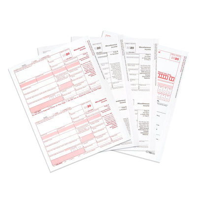 1099 MISC 5 Part 2020 Tax Forms Kit with Software Download, 15 Count Tax Forms Blue Summit Supplies
