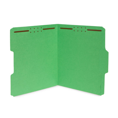 Fastener File Folders, Letter Size, Assorted Colors, 50 Pack Folders Blue Summit Supplies
