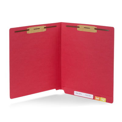 End Tab Fastener File Folders, Letter Size, Red, 50 Pack Folders Blue Summit Supplies