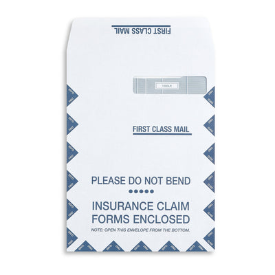 Large CMS 1500 Form Security Envelopes, Self-Seal, 500 Count
