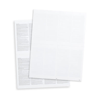 Blank 2019 W2 4-Up Tax Forms