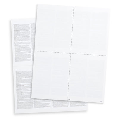 Blank 2019 W2 4-Up Tax Forms, 100 Count