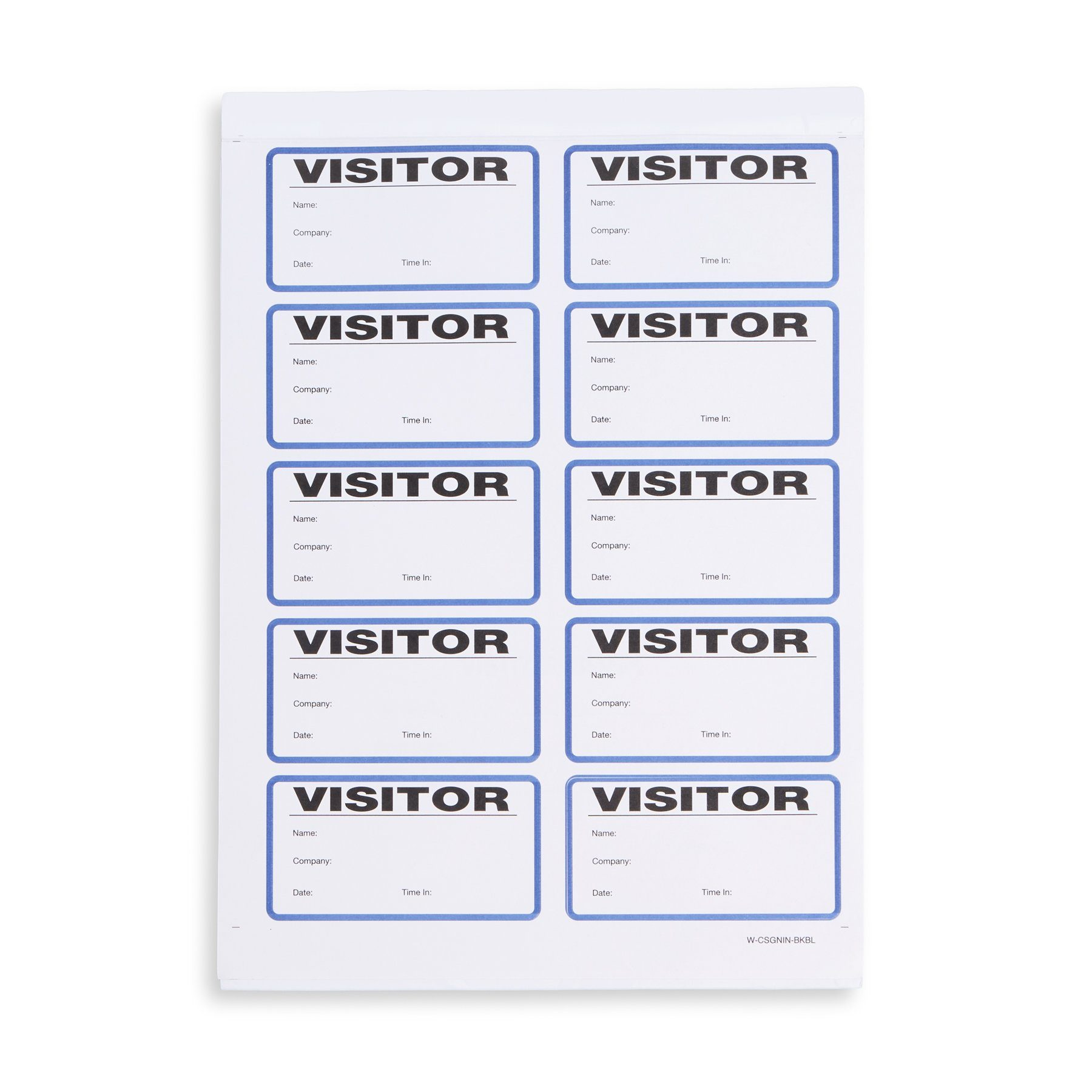 150//Box White C-Line 97030 Visitor Badges with Registry Log 3 1//2 x 2