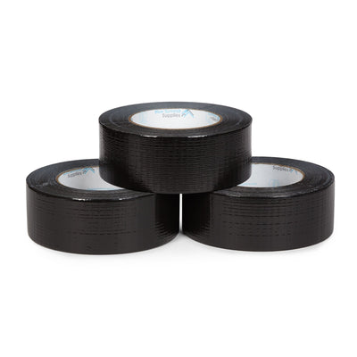 Heavy Duty Black Duct Tape, 3 Pack Tape Blue Summit Supplies