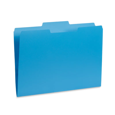 Plastic File Folders, Letter Size, Assorted Gem Tone Colors, 30 Pack Folders Blue Summit Supplies