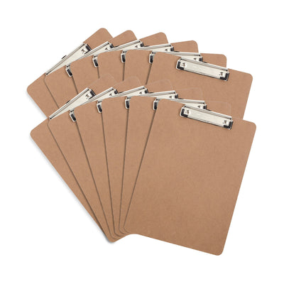 Hardboard Clipboards, Low Profile Clip, 12 Count