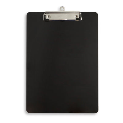 Plastic Clipboards, Low Profile Clip, Black, 6 Pack Clipboards Blue Summit Supplies