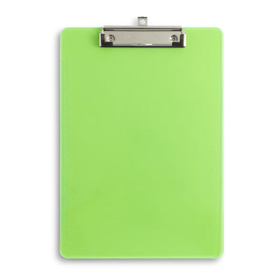 Transparent Plastic Clipboards, Low Profile Clip, Assorted Colors, 6 Pack Clipboards Blue Summit Supplies