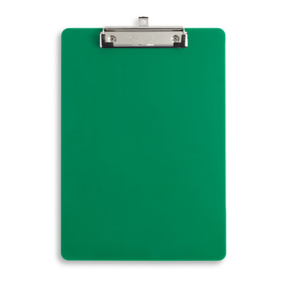 Plastic Clipboards, Low Profile Clip, Assorted Colors, 6 Pack Clipboards Blue Summit Supplies