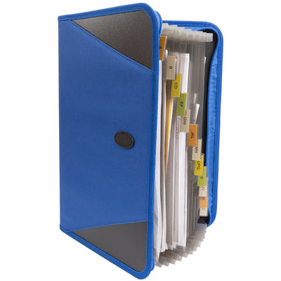 Zippered Accordion File Organizer, 13 Pockets