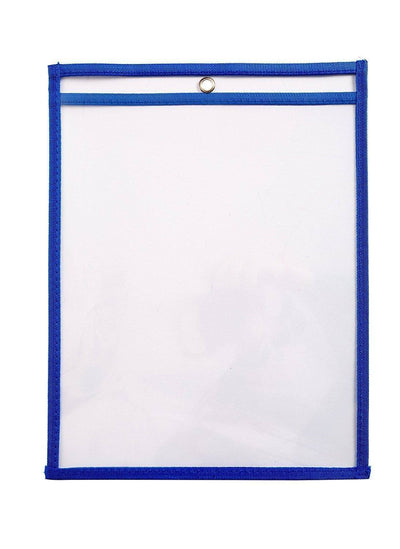 Dry Erase Pockets, 10 Pack WhiteBoard Blue Summit Supplies