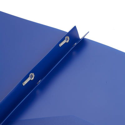 Plastic Two Pocket Folders with Prongs, Assorted Colors, 30 Pack Folders Blue Summit Supplies