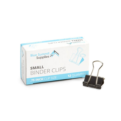 "Small Binder Clips, 0.75"" Clip Size, Black, 144 Count Accessories Blue Summit Supplies"