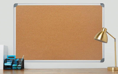 "Corkboard with Aluminum Frame, 36"" x 48"" Corkboard Blue Summit Supplies"