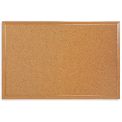 "Corkboard with Natural Wood Frame, 24"" x 36"""