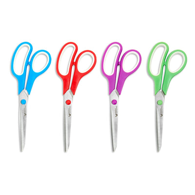 Stainless Steel Scissors, Assorted Colors, 16 Pack Scissors Blue Summit Supplies
