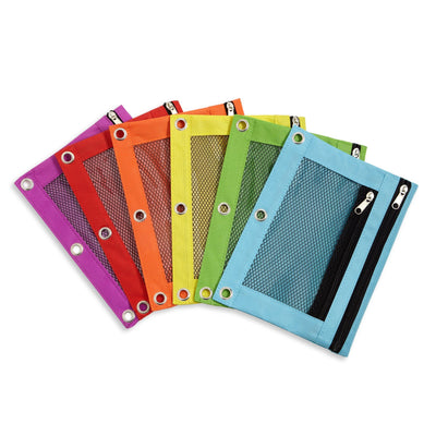 Pencil Pouches, Assorted Colors, 6 Count