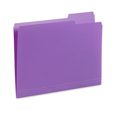 Plastic File Folders, Letter Size, Assorted Colors, 30 Pack Folders Blue Summit Supplies