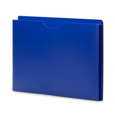 "1"" Expanding Plastic File Jackets, Letter Size, Assorted Colors, 20 Pack Folders Blue Summit Supplies"