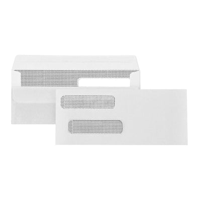 #8 Double Window Security Check Envelopes for QuickBooks, Flip and Seal, 500 Count Envelopes Blue Summit Supplies