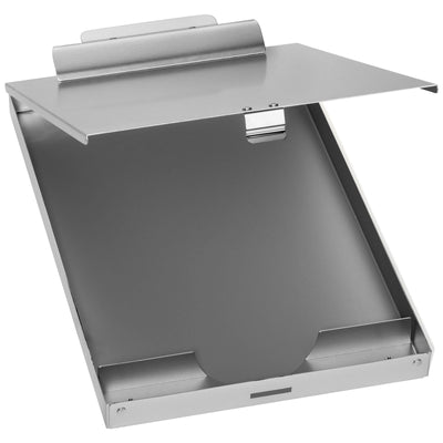 Aluminum Storage Clipboard, 1 Compartment, Large Clip
