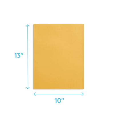 "Large Clasp Envelopes, 10"" x 13"", Kraft Paper, 100 Pack Envelopes Blue Summit Supplies"